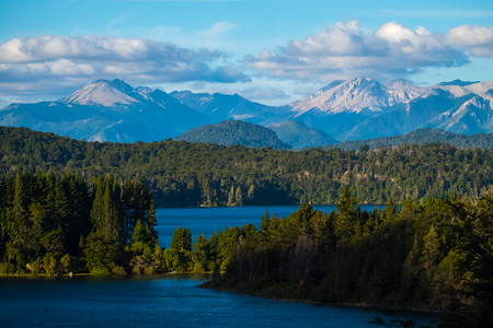 Mountains and lakes of the National Park of Nahuel Huapi, town of Bariloche, Argentina