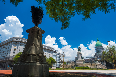 City of Buenos Aires during sunny summer day. Argentina