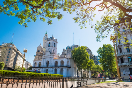 City of Buenos Aires on sunny summer day, Argentina