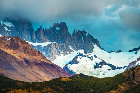 Mountains with glaciers. Los Glaciares National Park. Patagonia, Argentina