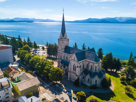 Church in the city of Bariloche. Argentina 写真素材