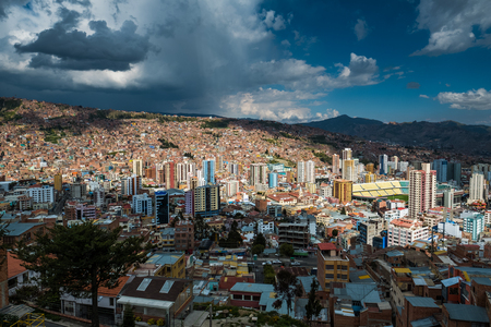 Skyline of the city of La Paz, Bolivia Stock Photo