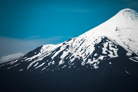 オソルノ火山の斜面 写真素材