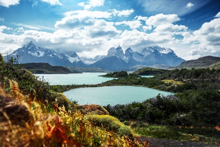 Torres del Paine National Park. Mountains and lakes of Patagonia, Chile