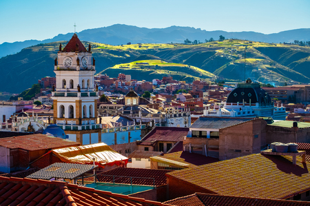 City of Sucre at sunny day. Bolivia