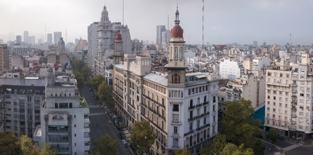 Aerial view of the city of Buenos Aires. Argentina Stock Photo