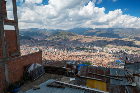City of La Paz, view from the city of El Alto, Bolivia