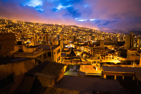 City of La Paz at early morning. Bolivia
