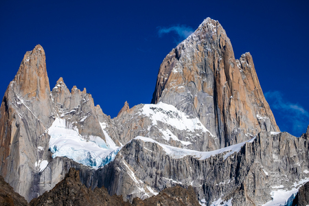 Mountain of Fitz Roy at sunny day, Patagonia, Argentina 写真素材