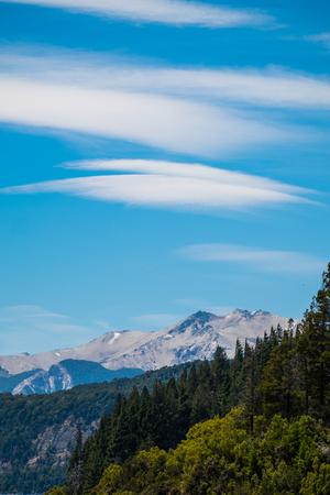 Lenticular clouds (Altocumulus lenticularis) over the mountains, Patagonia, Argentina
