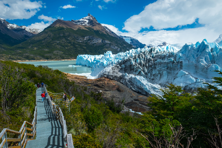 Perito Moreno Glacier at sunny day, Patagonia, Argentina Stock Photo