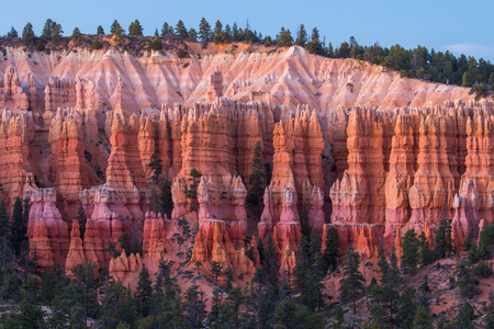 Geological structures called hoodoos in the Bryce Canyon National Park, USA