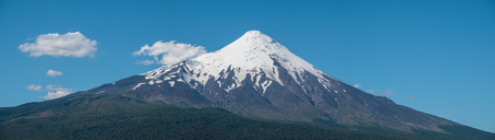 Panorama of the volcano of Osorno during summer sunny day, Patagonia, Chile