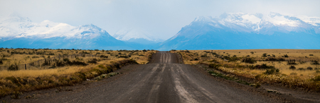 Panorama of the rural Patagonian road in Argentina