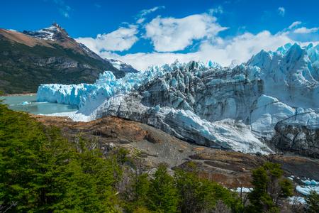 Glacier of the Perito Moreno during sunny day. Patagonia, Argentina