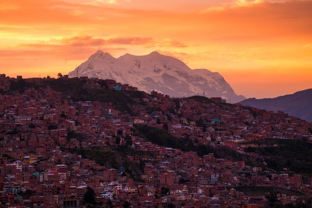 City of La Paz at sunrise, Bolivia