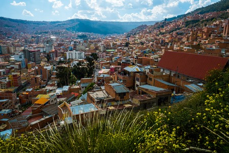 City of La Paz during sunny day, Bolivia