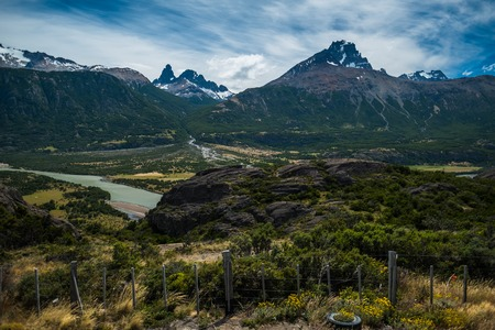 Mountains in Chilean Patagonia with sky 写真素材 - 116955309