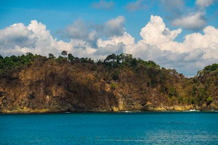 Coast with cliffs in Costa Rica