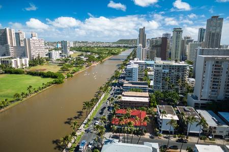 City of Honolulu at sunny day. Hawaii, USA