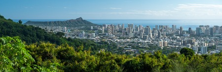 Panorama of the city of Honolulu from mount Tantalus. Oahu, Hawaii