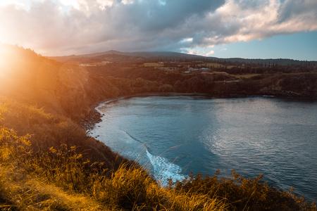 Honolua Bay at sunrise. Maui, Hawaii 스톡 콘텐츠