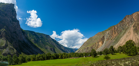 Mountains of Altai Republic on summer, Russia Stock Photo