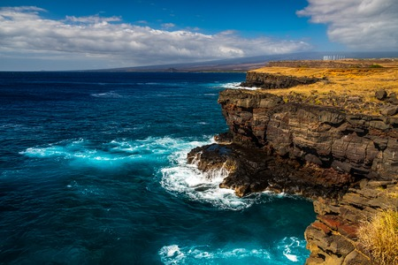 Coast and turquoise waters of the southernmost tip of the United States, Ka Lae, Big Island, Hawaii Reklamní fotografie