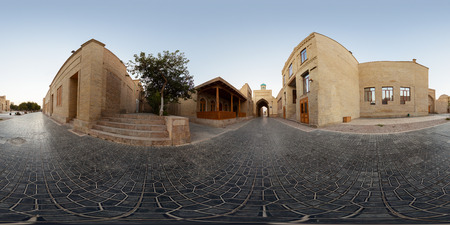 Spherical, 360 degrees, seamless panorama of the city of Bukhara, Uzbekistan Foto de archivo