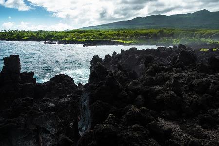 Volcanic coast of the west Maui, Hawaii
