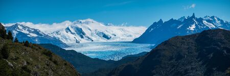 Panorama of the glacier of Grey in Torres del Paine National Park, Chilean Patagonia