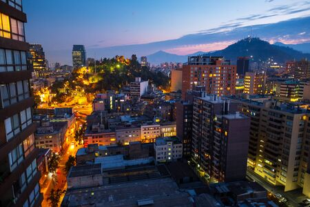 City of Santiago de Chile during sunrise. Chile