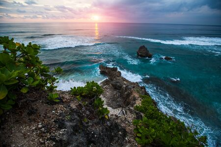 Sunset over the ocean. Bali, Indonesia