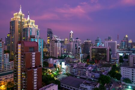 City of Bangkok during sunset, Thailand