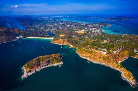 Aerial view of Phuket island. Thailand