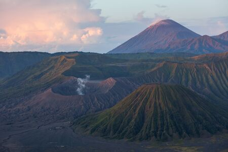 Bromo Tengger Semeru National Park during sunset. Java, Indonesia