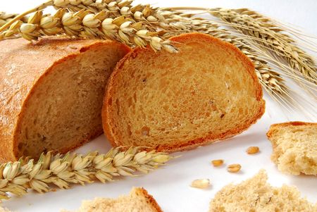 Bread and wheat Stok Fotoğraf
