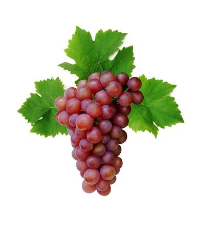 Pink wine grape, isolated on white background Stock Photo - 3317485