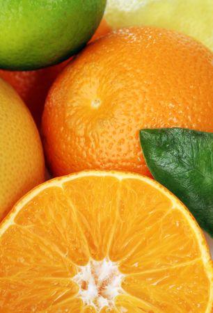 Citrus fruits close up