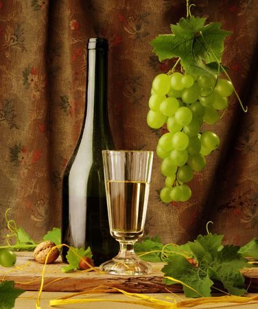 White wine still life Stok Fotoğraf