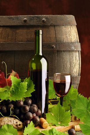 vats: Red wine and cask