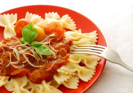 Pasta with tomato sauce  Stok Fotoğraf