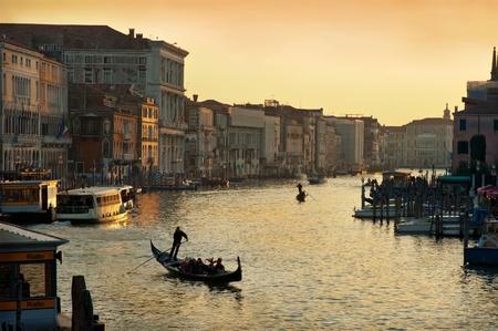 Evening Grand Canal, Venice, Italy photo