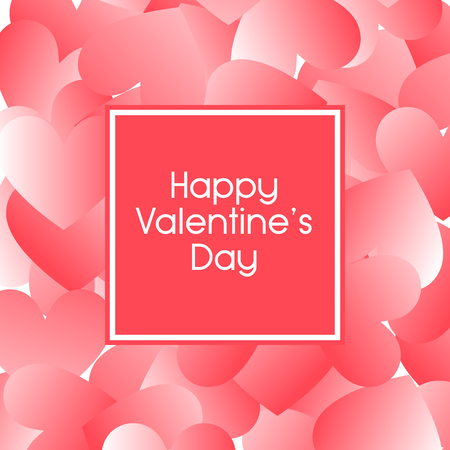 Happy Valentine Day background with too many big heart pattern, vector