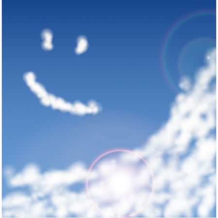 blue sky with clouds closeup Illustration