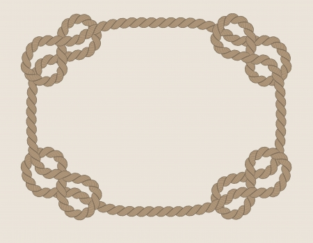 frame made from rope isolated Vector