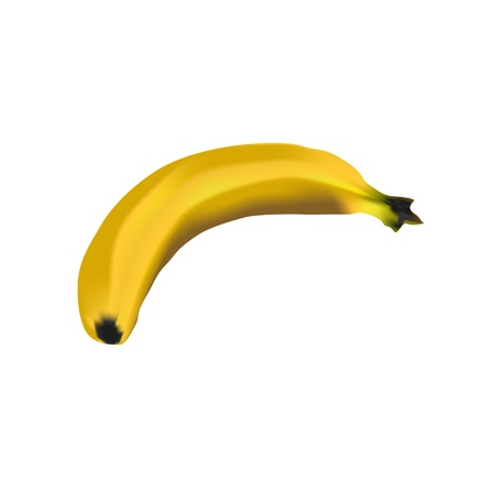 yellow banana on a white background