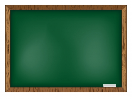 Blackboard on wooden background.  Illustration