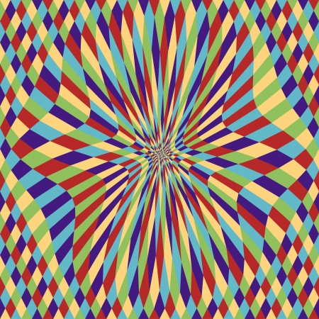 Mystic Diamond Disk (motion illusion) Stock Vector - 21419371