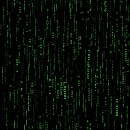 dark green seamless pattern with binary code.  Vector illustration eps 10  with falling number